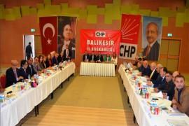 CHP'Lİ İLÇE BAŞKANLARI AYVALIK'TA BULUŞTU